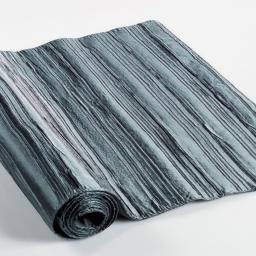 Chemin de table 40 x 140 cm taffetas plisse tafty Acier