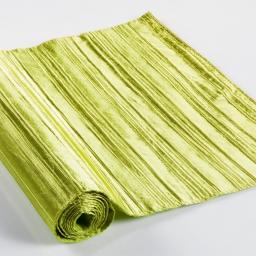 Chemin de table 40 x 140 cm taffetas plisse tafty Anis
