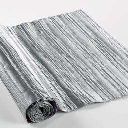 Chemin de table 40 x 140 cm taffetas plisse tafty Gris