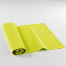 Chemin de table 40x140 coton uni radis Vert