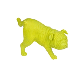 chien pause pipi en polyresine vert anis h.23.5*l.12.5*p.14cm