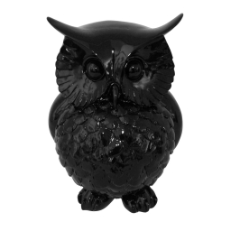 chouette polyresine 21*20.5*h28cm noir