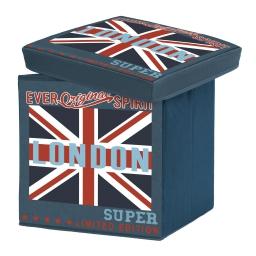 coffre de rangement pliable 38 x 38 x 38 cm polyester imprime city london