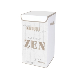 coffre linge polypropylene intisse 30*30*h.60cm zen wood