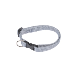 collier reglable en pp de 25 a 35cm*largeur 10mm - gris