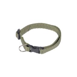 collier reglable en pp de 25 a 35cm*largeur 10mm - kaki