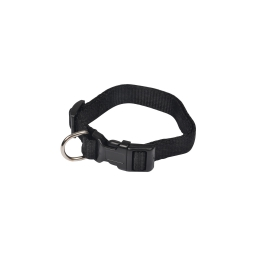 collier reglable en pp de 25 a 35cm*largeur 10mm - noir