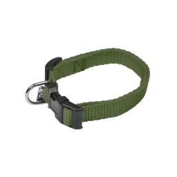 collier reglable en pp de 30 a 45cm*largeur 16mm - kaki