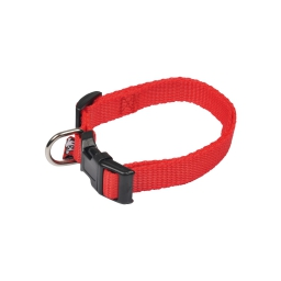 collier reglable en pp de 30 a 45cm*largeur 16mm - rouge