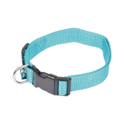 collier reglable en pp de 45 a 65cm*largeur 25mm - bleu