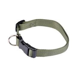 collier reglable en pp de 45 a 65cm*largeur 25mm - kaki
