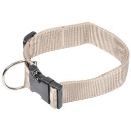 collier reglable en pp de 50 a 70cm*largeur 40mm - taupe