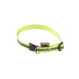 collier reglable pp avec bande reflechissante l25 a 35cm*l10mm - coloris jaune