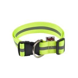 collier reglable pp avec bande reflechissante l50 a 70cm*l40mm - coloris jaune