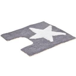contour wc coton 50*50cm etoile gris