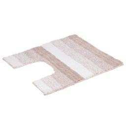 contour wc coton 50*50cm rayé taupe