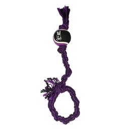 corde élastique + balle de tennis h18.5*2.5*2.5cm - 1 coloris violet/noir