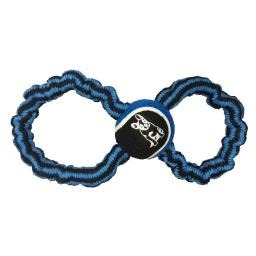 corde élastique en 8 + balle de tennis h12*2.5*2.5cm - 1 coloris bleu foncé/noir
