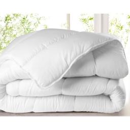 Couette 2 personnes 260 x 240 cm 400 grammes polyester uni anti acarien premium