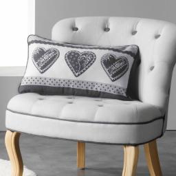 Coussin 30 x 50 cm coton imprime asmara Gris