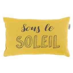 Coussin 30 x 50 cm coton imprime pacifique  soleil Jaune
