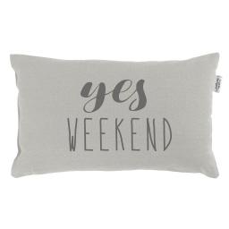 Coussin 30 x 50 cm coton imprime pacifique  weekend Lin