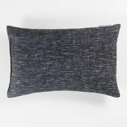 Coussin 30 x 50 cm polycoton imprime memphis Noir