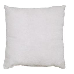 Coussin 30 x 50 cm suede uni suedine Blanc