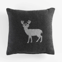 Coussin 40 x 40 cm chevrons caribou Anthracite