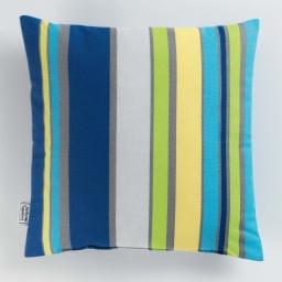 Coussin 40 x 40 cm coton imprime marina Bleu