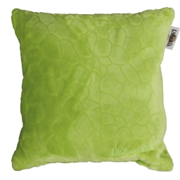 Coussin 40 x 40 cm flanelle relief brode ushuaia galets Vert