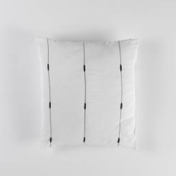 Coussin 40 x 40 cm jacquard bicolore filio Blanc