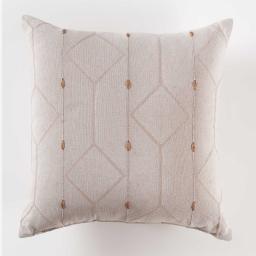 Coussin 40 x 40 cm jacquard bicolore malone Lin
