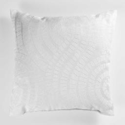 Coussin 40 x 40 cm jacquard lexi Blanc