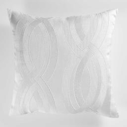 Coussin 40 x 40 cm jacquard miriade Blanc