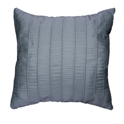 Coussin 40 x 40 cm jacquard rayures crash lineo Anthracite