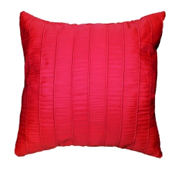 Coussin 40 x 40 cm jacquard rayures crash lineo Rouge