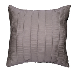 Coussin 40 x 40 cm jacquard rayures crash lineo Taupe