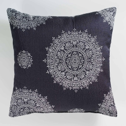 Coussin 40 x 40 cm jacquard rosella Navy