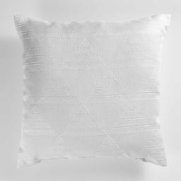 Coussin 40 x 40 cm jacquard triomy Blanc