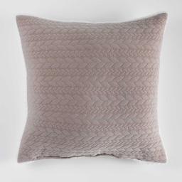 Coussin 40 x 40 cm jersey sherpa tricoline Lin