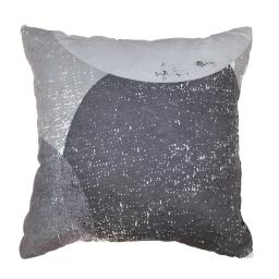 Coussin 40 x 40 cm suedine imprimee osmose Gris