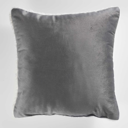 Coussin 40 x 40 cm velours/sherpa austral Anthracite