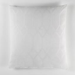 Coussin 60 x 60 cm jacquard bicolore monalise Blanc
