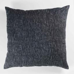 Coussin 60 x 60 cm polycoton imprime memphis Noir