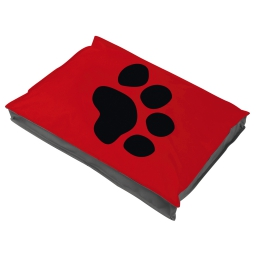 coussin chien rectangulaire 100*70*8cm bicolore - 300 gr polyester