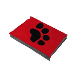 coussin chien rectangulaire 80*60*8cm bicolore - 300 gr polyester