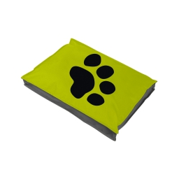 coussin chien rectangulaire 80*60*8cm bicolore - 300 gr polyester