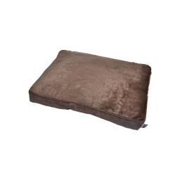 coussin chien rectangulaire newton 60*45cm chocolat