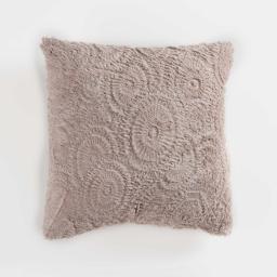 Coussin compresse 40 x 40 cm effet fourrure relief eloise Lin